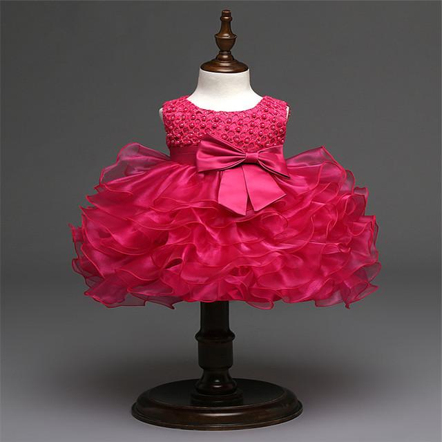 Boutique trajes niñas vestidos del verano 2016 vestido de la muchacha bordado 3 D de la gasa con rebordear niños de 5 colores de partido de la princesa