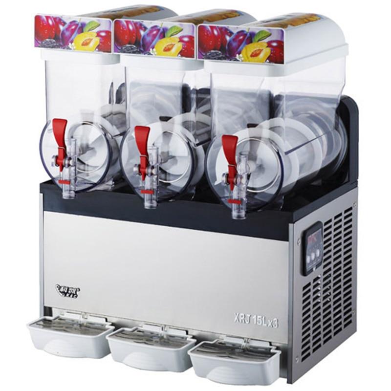 XRJ15X3 Snow Melting Machine Three Tanks Of Commercial Slush Machine Beverage Ice Machine And Frozen Juice 220V-240V/110V-130V