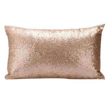 Pale Gold Rectangle Sequins Pillow