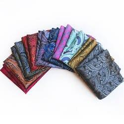Новый дизайн носовой платок из полиэстера золото и черный Пейсли Для мужчин мода плед квадранные Карманные Платки для мужской костюм