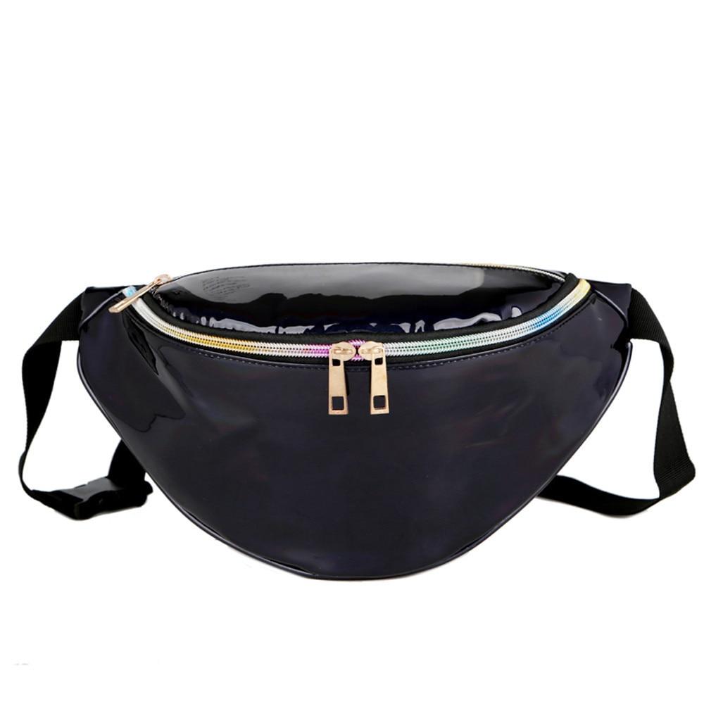 Women Fanny Pack Laser Pockets Waist Bag Packs Men Money Waist Bags