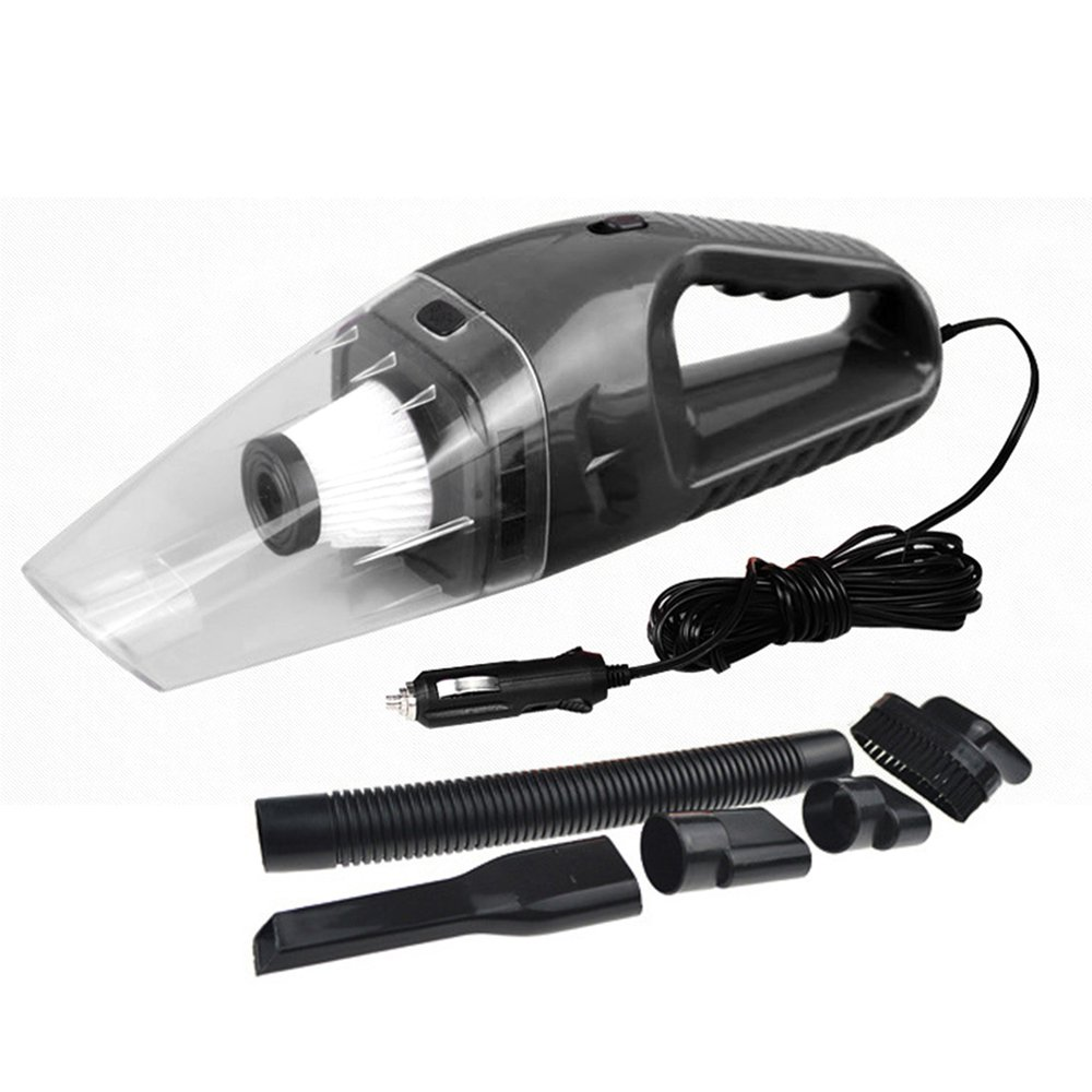 120W 12V Car Vacuum Cleaner 5m Cable Handheld Mini Vacuum Cleaner Super Suction Dual Use Wet And Dry Mini Vacuum Aspirateur Dust 2018 car vacuum cleaner 90w 2800pa mini portable cordless handheld auto vacuum cleaner dust suction collector dry wet dual use
