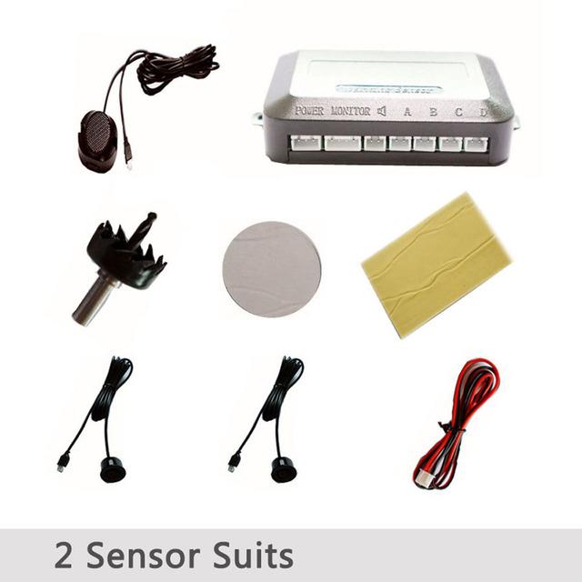 Car LED Parking Sensor Kit With 24 Sensors DisplayBuzzer Voice Reverse Backup Radar Monitor Detector Security Alert System