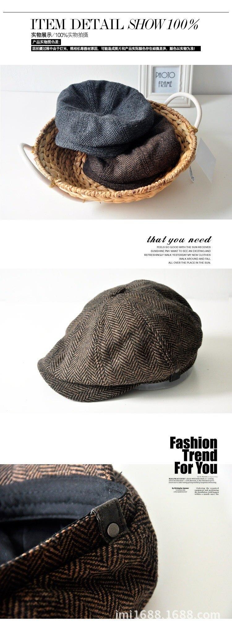 45aeb42b8ca56d HTB1v0vJHFXXXXbeXVXXq6xXFXXXI HERRINGBONE TWEED GATSBY Newsboy Cap Men Wool  Ivy Hat Golf Driving Flat Cabbie flat hat