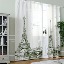 2016 europe 3d tower luxury blackout window curtains ready made childrenu0027s  curtains sheer for bedroom living