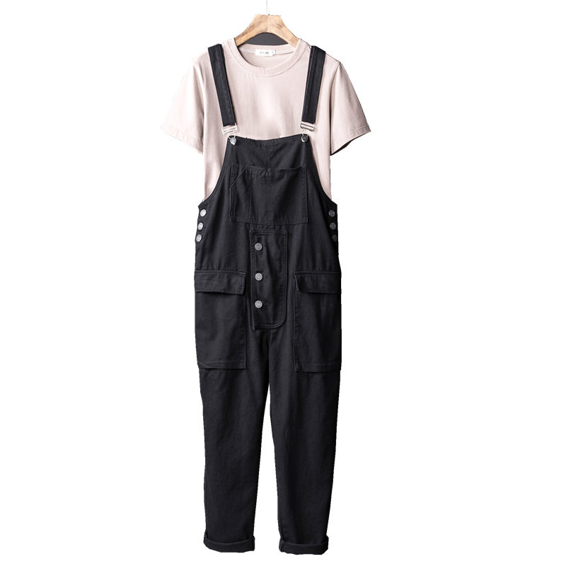 139abb81a37d Hip hop Streetwear harem pants 2018 Spring Autumn Fashion mens loose  Suspenders overalls trousers Male bib