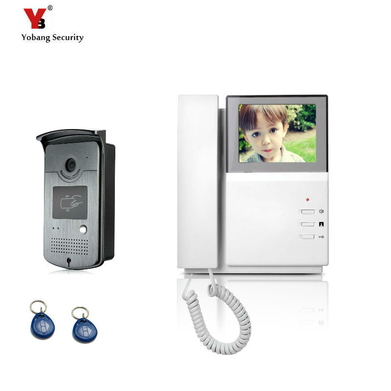 4.3'' TFT Color Wired Video Intercom Door Phone Doorbell System For Home 700TVL IR Night Vision With RIFD Card Outdoor Camera