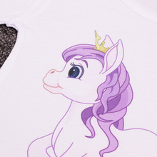 Lovely Summer Cartoon Themed Cotton Girl's T-Shirt