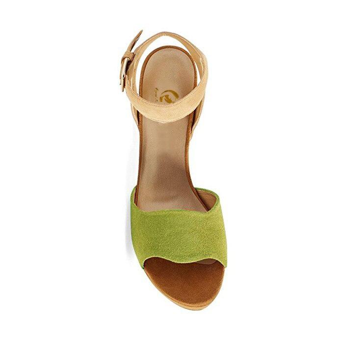 L'intention 4 Talon Femmes Chaussures Populaire À Orange Initiale 15 Ydn6732 Femme Nouveau Bout Belle Carré ydn6733 Vert ydn6731 Taille Ouvert Olive Plus Sandales Nous HqwHr8
