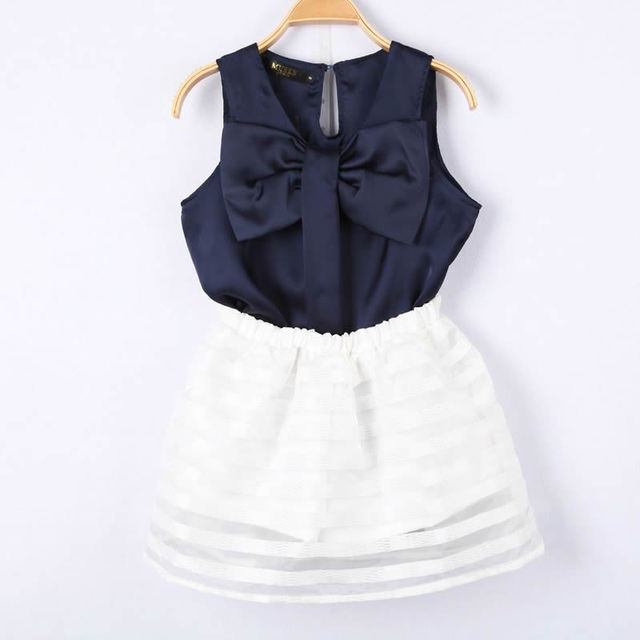 Sweet ladies faux silk bow sleeveless top organza canopy tent bust skirt twinset & Sweet ladies faux silk bow sleeveless top organza canopy tent bust ...