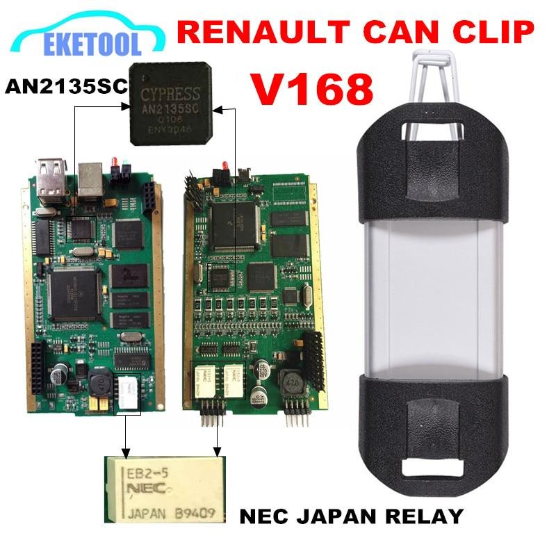 Цена за Ren A ULT c A N Клип ди A гностические Интерфейс новые V168 полный чип полная система Cypress AN2135SC Лучшие Цюй A lity PCB золота AN2135SC