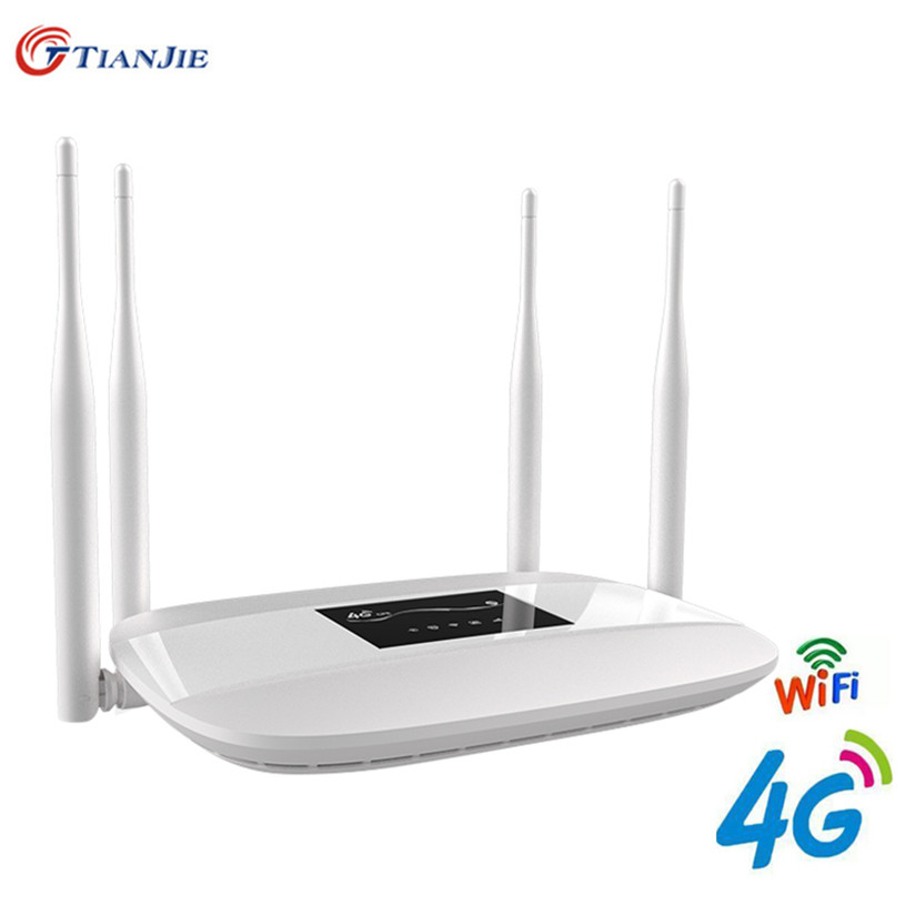 Routeur WiFi 4G LTE 300Mbps sans fil large et 4G 3G Wi-Fi Hotspots mobiles CPE avec emplacement SIM 4LAN Ports 32 utilisateurs