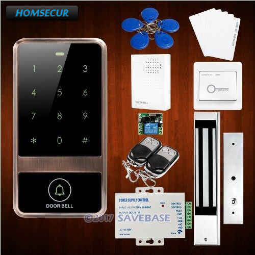 HOMSECUR Waterproof 125Khz ID Metal Access Control System With Waterproof 280KG Magnetic Lock все цены