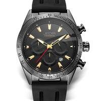 2019 Chronograph Men Watch Relogio Masculino gold Business Rubber Quartz Watch Clock Men Creative Army Military Wrist Watches|Quartz Watches| |  -