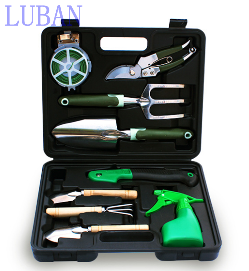 9pcs High quality Garden Tool Set Combination Planting Tools Gardening Hand Tools Set LUBAN high quality screwdriver combination set unique telescopic function
