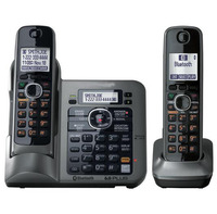 2 Handsets KX TG7642M DECT 6 0 Link To Cell Digital Wireless Phone Cordless Phone