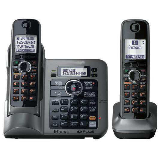 2 Handsets Digital Wireless Cordless Phone DECT 6.0 link-to-cell Bluetooth Cordless Telephone With Call ID Answering system 2 receivers 60 buzzers wireless restaurant buzzer caller table call calling button waiter pager system