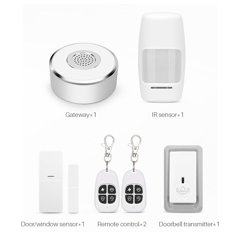 Image 5 - WiFi Smart Home Security System Kit Door Window Alarm PIR Motion Sensor APP Notification Compatible With Alexa Google Home IFTTT-in Alarm System Kits from Security & Protection