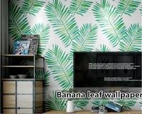 beibehang papier peint mural 3d Home interior banana leaf tropical rainforest plant living room bedroom TV backgroundVinyl wall