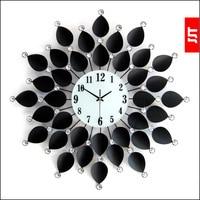 Luminousness Large luxury vintage tieyi diamond clock fashion modern wall clock mute table