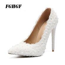 Женские свадебные туфли на высоком каблуке, украшенные кристаллами элегантные женские Вечерние туфли на высоком каблуке, украшенные кристаллами, на весну и осень