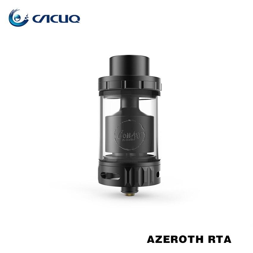 Original Coilart Azeroth RTA Tank 4.5ml Capacity 24mm Diameter E Cigarette RTA Atomizer with Triple Coil Deck for Box Mod