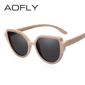 Image 2 - AOFLY BRAND DESIGN Sunglasses Womens Bamboo Polarized Sunglasses HAND MADE Bamboo Frame Classic Gafas de sol Shades UV400 AF608