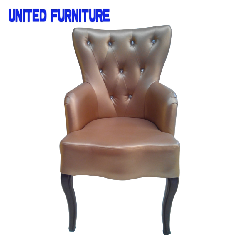 French Designer Metallic Iron Leather Chair Accent Chair Occasional Chairs  Modern Sofa Living Room Furniture Home Furniture In Dining Chairs From  Furniture ...