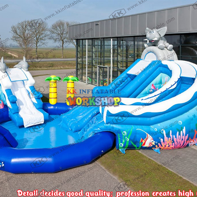 Environmentally Friendly PVC Inflatable Pool Slide Customization