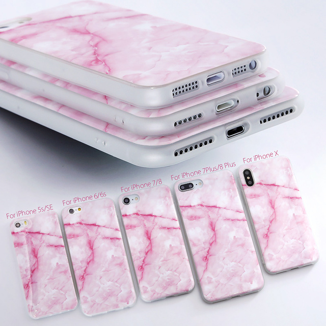 SoCouple For iphone 5s 5 SE 6 6s 8 6/7/8 plus X Granite Scrub Marble Stone image Painted Silicone Phone Case For iphone 7 case 3