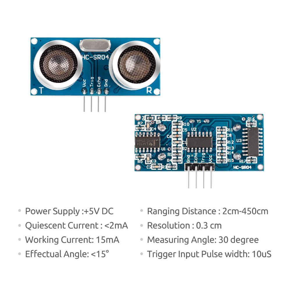 SunFounder 5 stücke HC-SR04 Ultraschall Modul Abstand Sensor für Arduino UNO Mega R3 2560 Rapsberry Pi 3 B +, 2 & RPi Modell B +