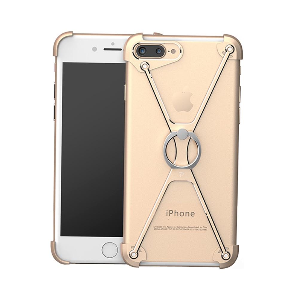 imágenes para Capítulo de Parachoques del Metal Soporte del anillo Soporte Del Teléfono Móvil Funda protectora para Apple iPhone 6 6 s 7 7 plus 4.7-5.5 pulgadas Casos de Parachoques