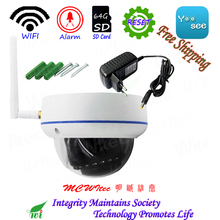 Из Металла WI-FI 1080 P 720 P ИК купольная H.265 Антивандальная система видеонаблюдения Cam RTSP Onvif SD Card IP Камера движения сигнализации P2P мобильный вид сброса IPC