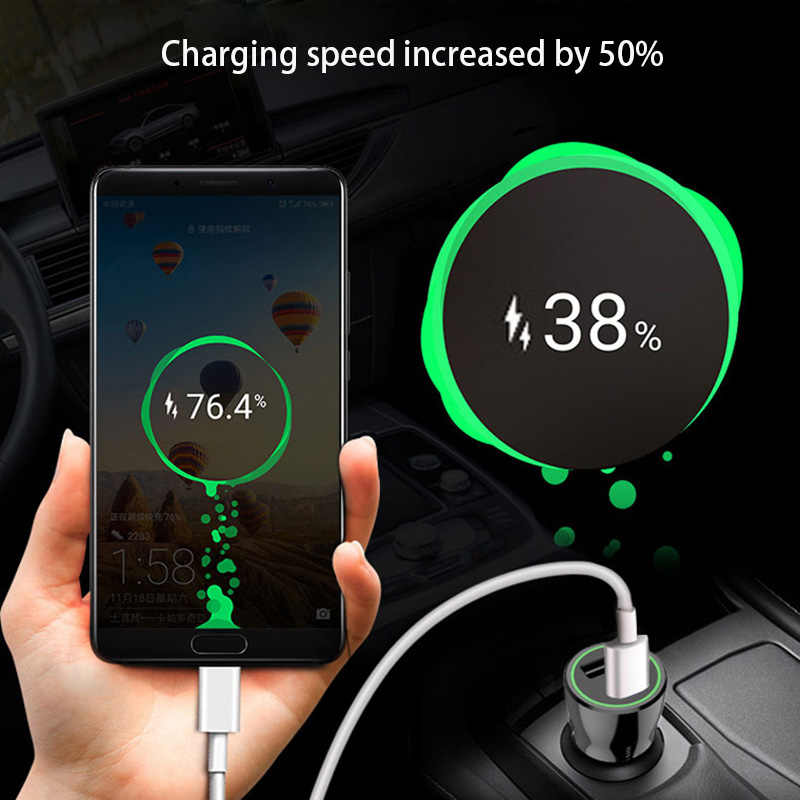 Universal 2018 new 5V 3.1A Dual USB With Blue led light  Car Auto usb Cigarette Lighter Socket for Iphone Xiaomi Huawei Samsung