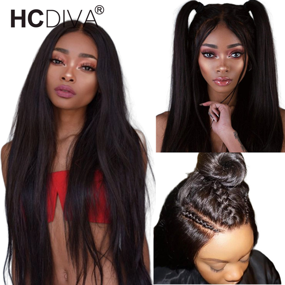 360 Lace Frontal Wig Pre Plucked With Baby Hair Straight lace Front Wig Brazilian Remy Lace