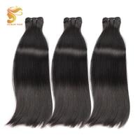AOSUN HAIR 100% Human Hair Brazilian Hair Weave Bundles Natural Color Double Drawn Fumi Bone Straight 10 20 Inch 3 Bundles Deals
