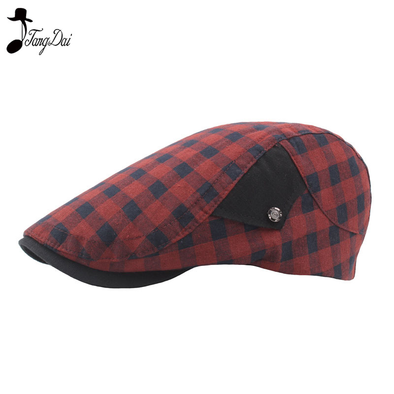 New Fashion Unisex Beret Caps for Men and Women Casual Winter Visor Caps Golf Hat Driving Plaid Adjustable Duckbill Cap Gorras