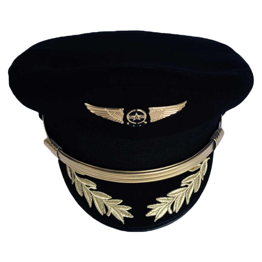 Custom Upscale Pilot Cap Airline Captain Hat Uniform Hat