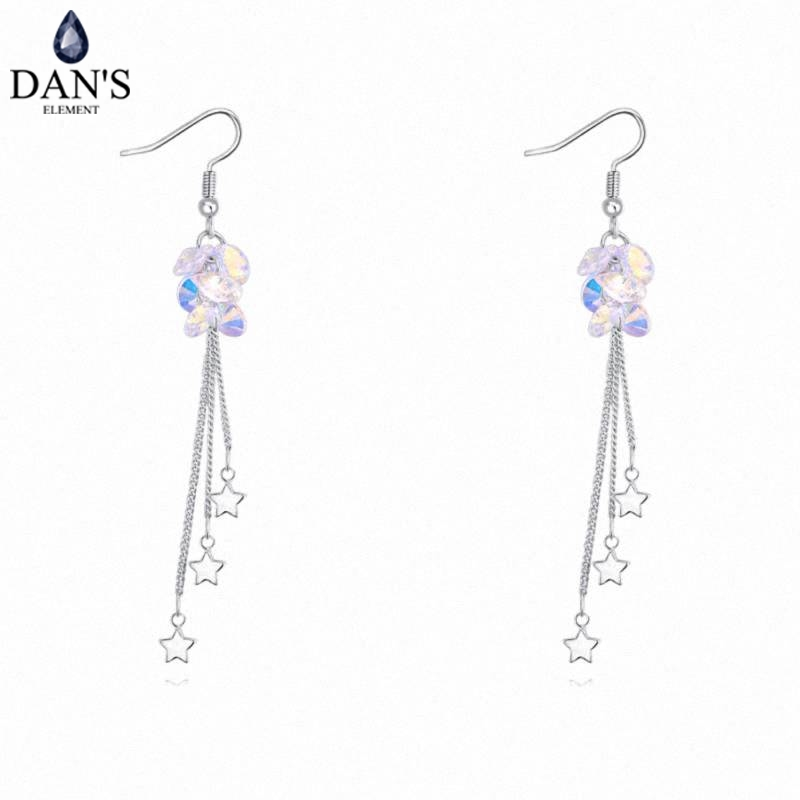 DANS Colors Real Austrian crystals Stud earrings for women Earrings s New Sale Hot Round 130318