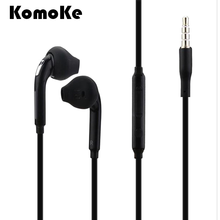 Para Samsung Galaxy S7 S6 Borda S5 S4 Nota 5 4 3 Handfree Fone De Ouvido Fones de Ouvido 3.5mm fone de Ouvido Estéreo Com Fio fone de ouvido Microfone do Fone De Ouvido