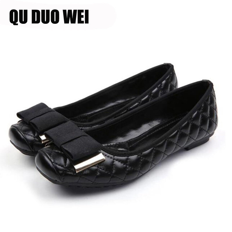 2019 New Arrival Women Flats With Sweet Bowknot Decoration Gloden Black Silver Women Causal Fashion Oxfords Light Wearing Shoes