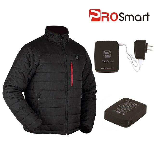 Battery Heated Clothing >> Prosmart Men S Black Winter Battery Heated Down Jacket Heated Coat 3