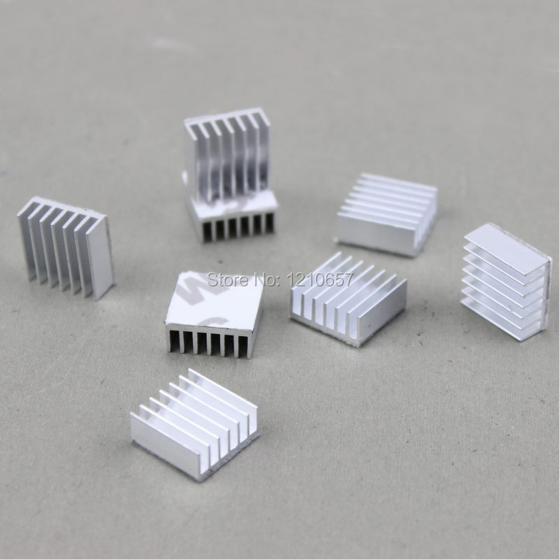 1000pcs lot Silver 14 x 14 x 6mm Aluminum Heatsink MOS Heat sinks Cooling for IC