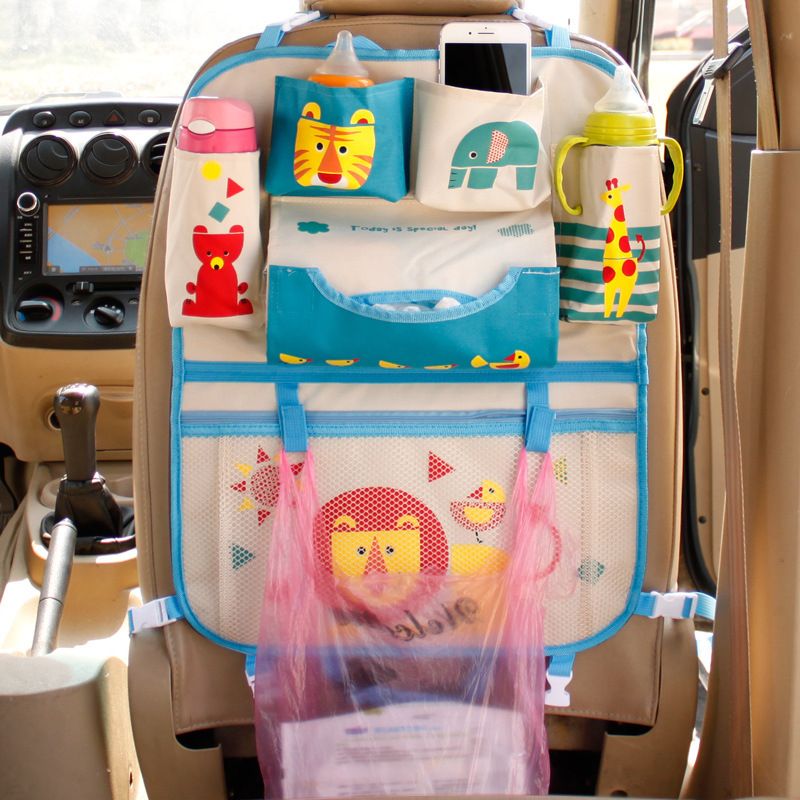 Asiento trasero de coche de dibujos animados bolsa colgante organizador de coche-estilo de bebé producto Varia estirar accesorios interiores de automóvil
