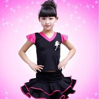 New Girls Kids Cotton Fringe Stage Performance Latin Dress Dress for Children Salsa Samba Tango Ballroom Latina Costume L033