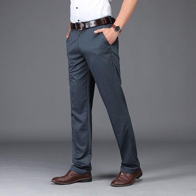 Anti Wrinkle Men Suit Pants  4