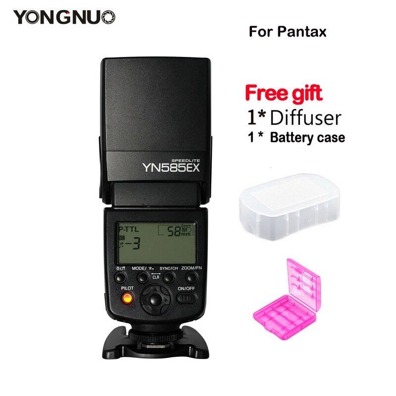 Nouveau YONGNUO YN585EX P TTL Synchronisation Sans Fil TTL Flash Speedlite pour Pentax K 70 K 50 K 1 K S1 K S2 645Z K 3 K 5 II K 30 DSLR Caméra-in Clignote from Electronique    1