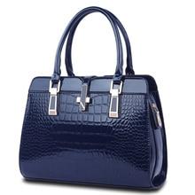 Luxury Elegant PU Hand Bag Women Stylish Crocodile Print Faux Leather font b Handbag b font