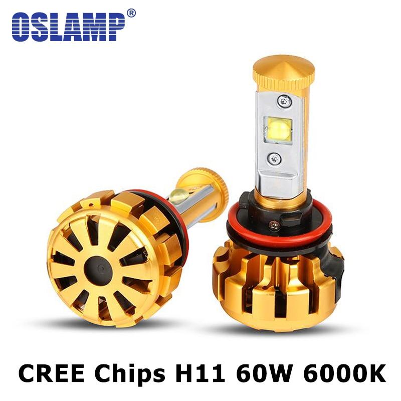 Oslamp H11 LED Car Headlight 60W 6000lm 6000K CREE Chips Auto Front Led Headlights h11 Fog