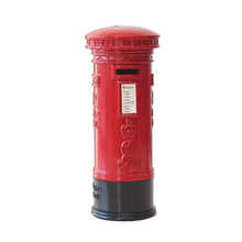 British Vintage Style Telephone Booth Piggy Bank Children s Iron Postbox Toy Money Box Home Decor Craft Gift For Kid